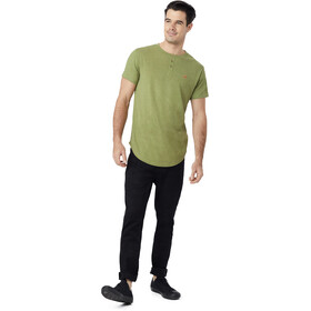 tentree Long Henley T-Shirt Men Mosstone Green